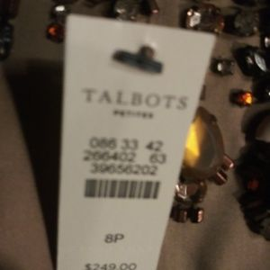 New Cotton Beaded Talbots Dress Tagged 249